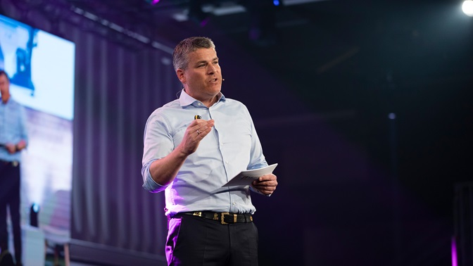 Marc Holitscherauf dem START Summit 2019